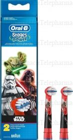 Oral B Stages Power 2 Têtes de Brosse à Dents Star Wars