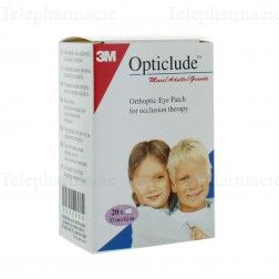 Opticlude 20 pansements orthoptiques maxi chair 8cm x 5.7cm