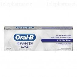 Oral b dentifrice 3d white luxe perfection 75ml