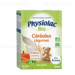 PHYSIOLAC CEREALES BIO Far légumes B/200g