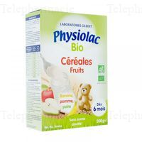 PHYSIOLAC CEREALES BIO Far fruits B/200g